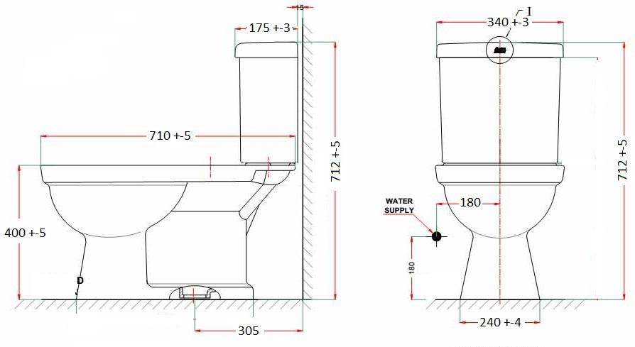 Bản vẽ bồn cầu VF-2024S